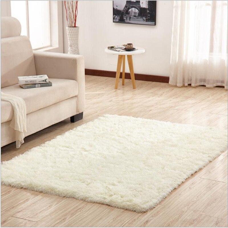Tapis et tapis d'absorption d'eau de tapis de bébé de plancher antidérapant de peluche d'hiver de 4.5 cm long 2019 pour la chambre à coucher de salon