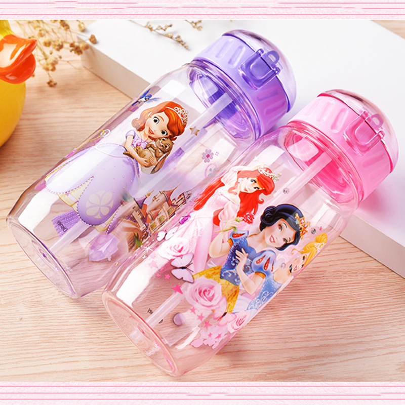 Cartoon Small Animals Sport Equipped Children High Capacity 400ml Vacuum Cute Water Bottle PP Plastic Bottle Kids Baby