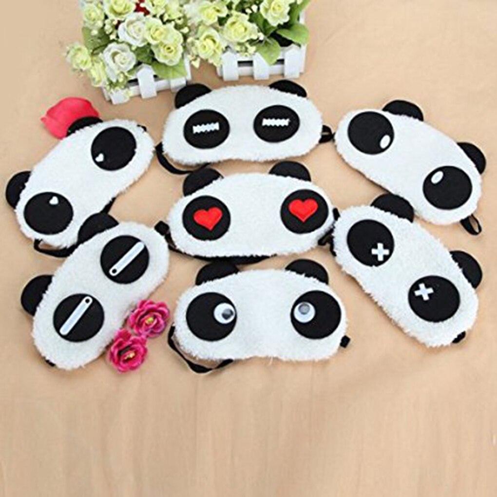 IMucci New 1x Panda Face Eye Travel Sleeping Mask Blindfold Christmas Gift White+Black
