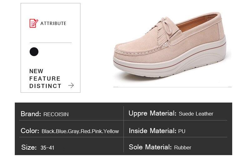 64a3c85ee Compre PINSEN Moda Feminina Sapatos De Plataforma Plana De Couro De ...