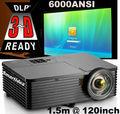 6000 lúmenes DLP de tiro corto proyector Multimedia educación / Meeting Business Projector con HDMI USB VGA VA puertos RJ45