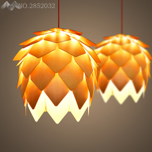 купить Nordic Novelty Pendant Lights Bedroom Restaurant Bar Led Pendant Lamp Hotel Dinning Room Pinecone Shade Hanging Light Fixtures дешево
