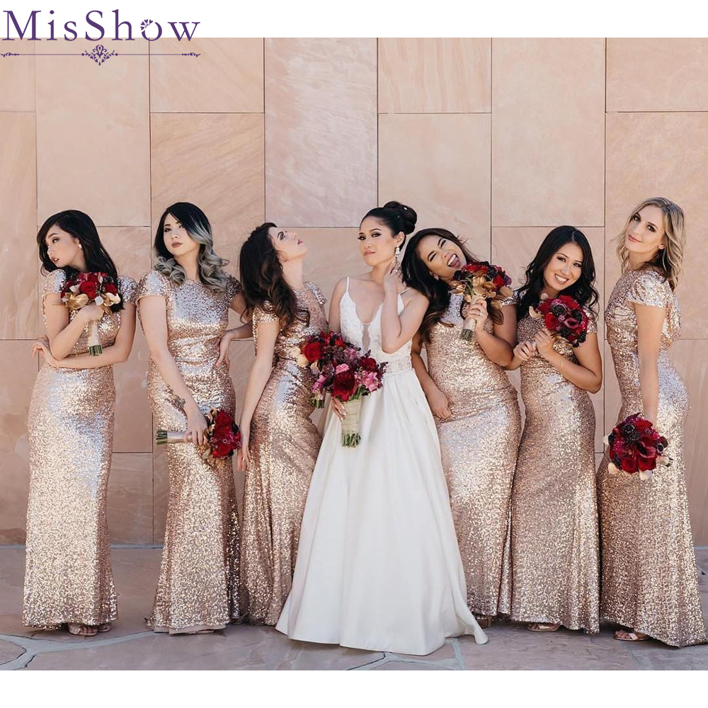 [Custom-made]   Bridesmaid     Dresses   2019 Short O-Neck Wedding Guest Maid Of Honor Long   Dress   Party For Women Prom   Dresses