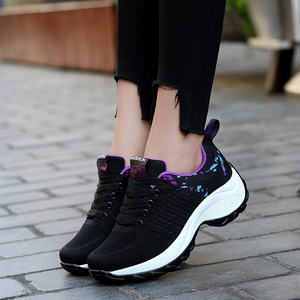 Image 5 - STQ 2020 Autumn Women Flat Platform Sneakers For Women Lightweight Comfortable Breathable Ladies Laces Casual Sneakers 1856