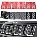 Newest 3D Mesh Racing Grille Insert Prevent Bug Dirt Grill ABS Chrome Red Black For Jeep Grand Cherokee 14 15 16 free ship