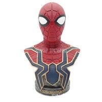 7'' 18CM Avengers: Infinity War Part I /II Movie Action Figures Spider Man Resin Bust SpiderMan Action Figure Model Statue