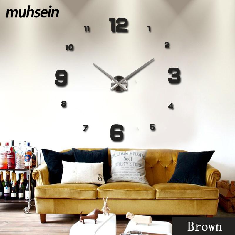muhsei nueva d diy grande relojes de pared decorativos reloj uuacutenico