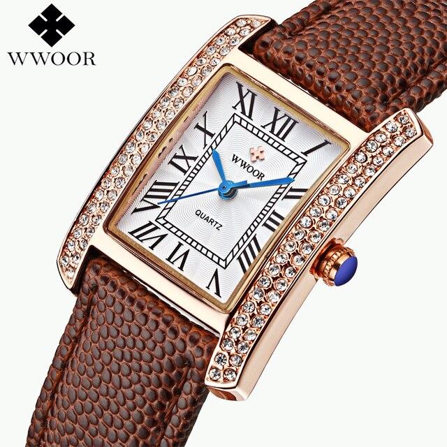 e9e2a85fc Brand Women Diamond Watches Ladies Leather Wrist Watch Luxury Bracelet Watch  relogio Analog Quartz Watch Ladies