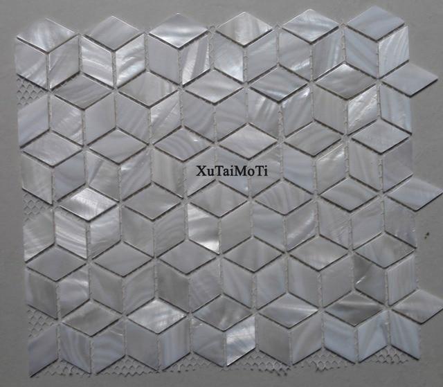11 pz Rombo mattonelle di mosaico delle coperture bianco madreperla ...