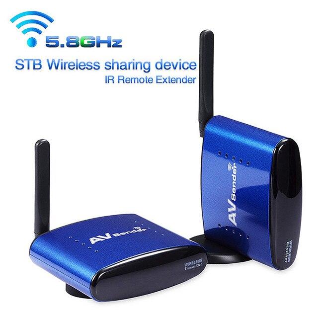 PAT-530 200 M 5.8 GHz Digital STB Dispositivo de Compartilhamento Sem Fio A/V Transmissor de Áudio E Vídeo receptor IR Extender UE EUA REINO UNIDO AU para PAT530
