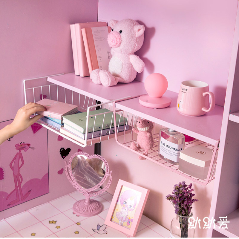 1pc Dolls Storage Metal Basket Hanging Holder Tools Cupboard Closet Basket Cabinet Storage Rack Dolls Product Organizer
