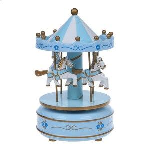 Музыкальная Карусель лошадь деревянная карусель музыкальная шкатулка игрушка детская игра