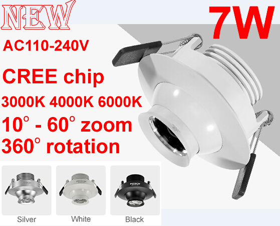 CREE COB spot led light,Zoom led spotlight,Museum cabinets,Lustre lights,3000K 4000K 6000K,CE RoHS 110V 220V