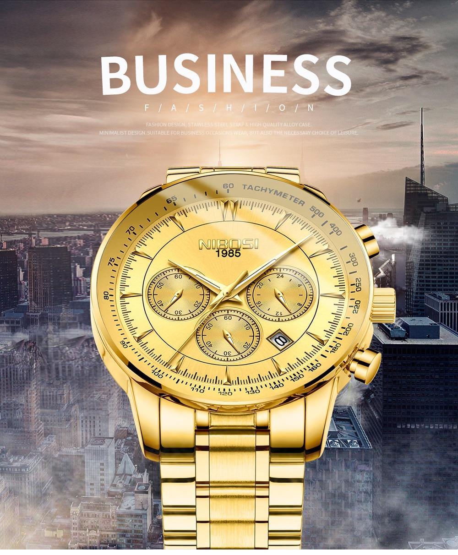Relogio Masculino NIBOSI Quartz Watches Men Steel Band Men Watches 2018 Luxury Brand Waterproof Wrist Watches For Men Brand Saat (1)