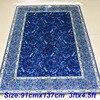 Mingxin 3x4 5ft Blue Plant Modern Carpet Silk Rug Prayer Carpet Handmade Exquisite Mat For Bedroom