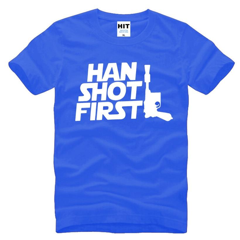 Movie Star Wars Han Shot Առաջին Զվարճալի - Տղամարդկանց հագուստ