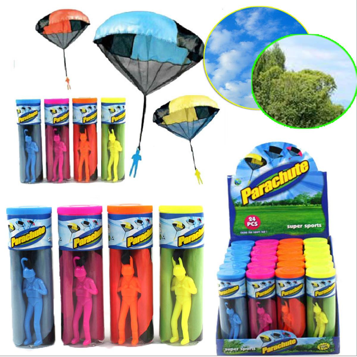 Hand Throwing kids mini play parachute toy soldier Outdoor sports Childrens Educational Toys free shipping ...
