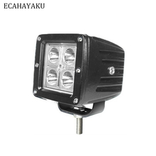 цена на ECAHAYAKU 2PCS 12W 12V LED Work Light Bar Spotlight Spot Flood Lamps Driving Fog lights Off-road For Off road 4x4 4WD Auto Lamp