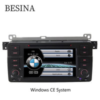 Besina one din 7 Inch Car Radio for BMW E46 M3 318i 320i 325i DVD CD auto multimedia Stereo Navigation RDS Video Player Headunit