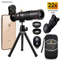 JINXINGCHENG 22X Zoom Lens All Smartphone Telephoto Lens + Bluetooth + Tripod for Huawei Xiaomi Universal Camera Lens Kit