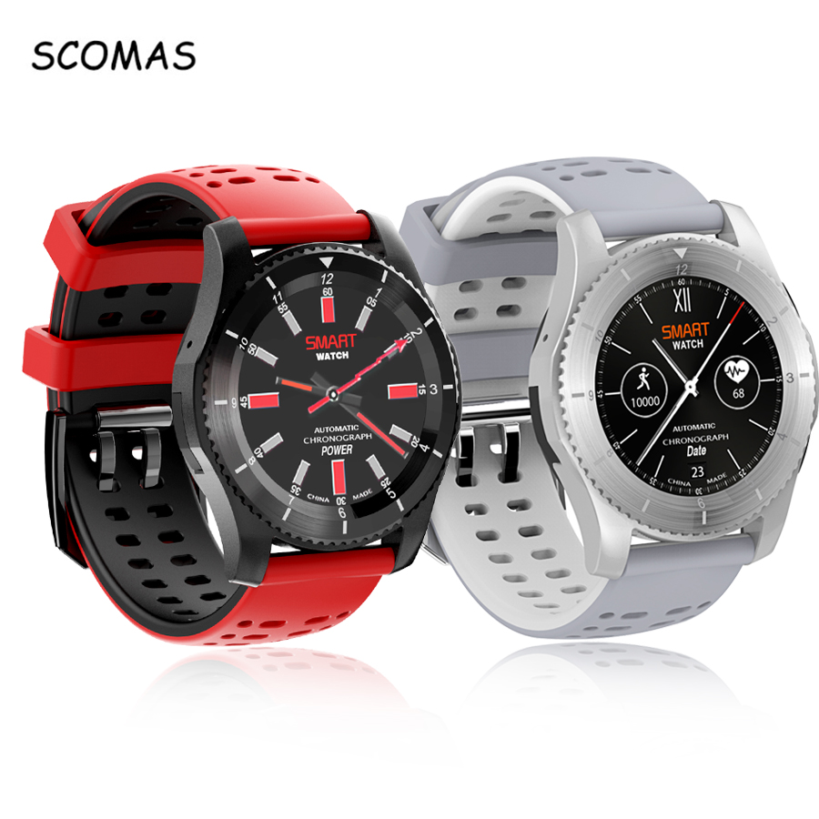 SCOMAS GS8 Waterproof GPS Smart Watch Blood Pressure Heart Rate Monitor Fitness Wristwatch with SIM Card for Android IOS Phone gs8 smart watch sim card call sms remind blood pressure heart rate tracker bluetooth 4 0 pedometer smartwatches for android ios
