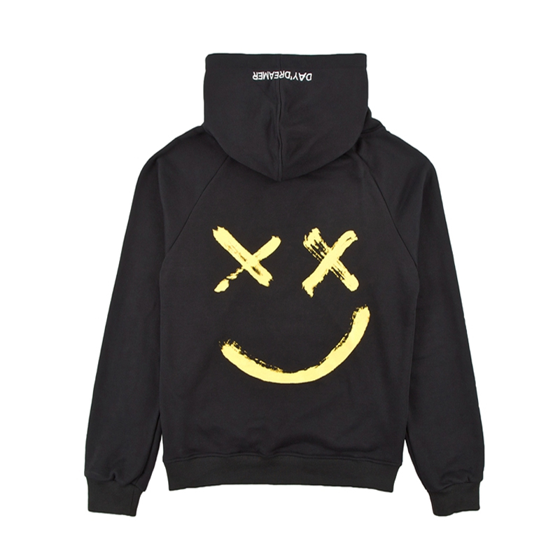 Pwnage Haxed Hoodie Close up Back black and yellow