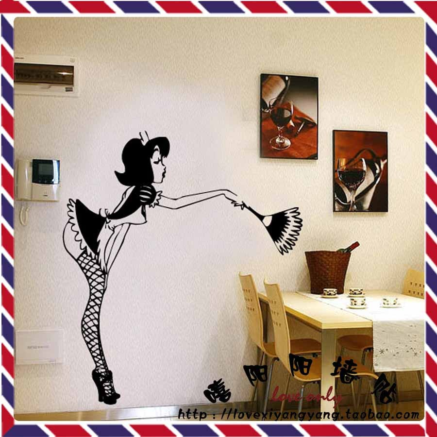 Billiard room wall decor mimiku customize sexy lady glass pattern decals sticker wall decor for pub bar billiards ktv 22 colors amipublicfo Images