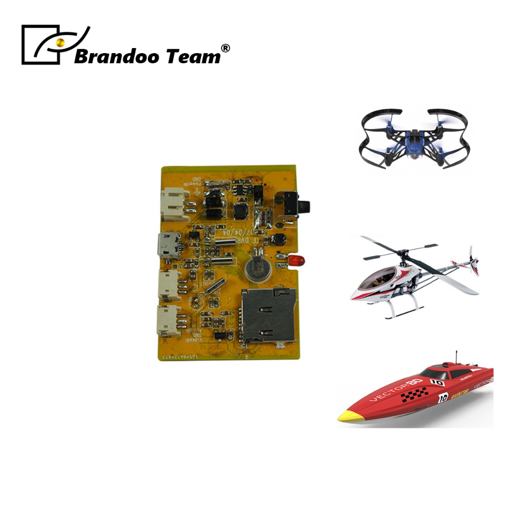 Free shipping airplane model FPV DVR module mini size 11g weight 32G auto recording