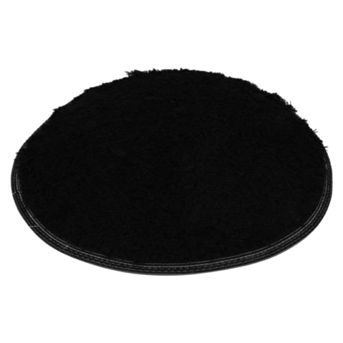 home decor soft bath bedroom floor shower yoga silky round mat rug nonslip black