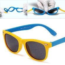 8420b1ff33cde Crianças do vintage óculos de sol polarizados crianças bebê sol vidro  menino menina rosa revestimento espelho marca designer uv4.