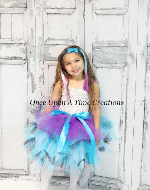Rainbow Cake Dress Birthday Rainbow Prop Halloween Costume Little Girl Tutu Dress Funking Girls Dresses Princess