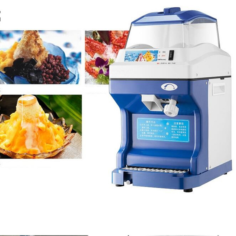 220V Commercial Electric Ice Crusher Automatic Ice Slush Maker Multifunctional Snow Maker Machine Big Capacity EU/AU/UK/US