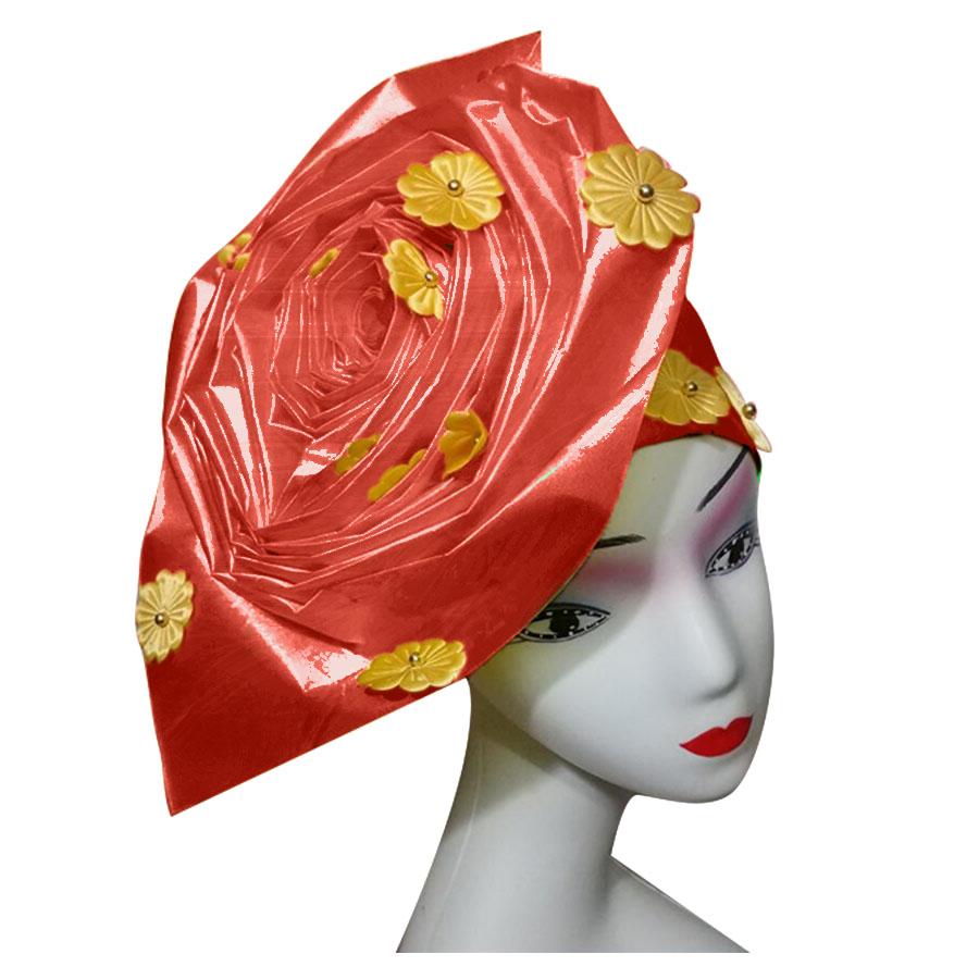 Auto gele nigerian gele headtie already made auto hele turban cap african aso ebi aso oke headtie 2018 (1)