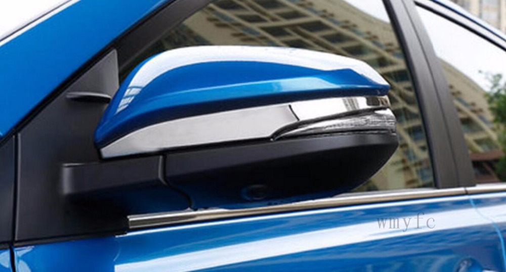 For Toyota RAV4 <font><b>rav</b></font> <font><b>4</b></font> 2014-2017 <font><b>2018</b></font> ABS Chrome Door Side Mirror Cover Trim Rear View Garnish Molding Strip Overlay Styling image