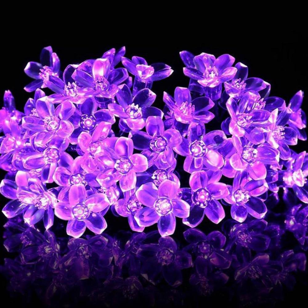 5M/10M LED Sakura Light Christmas Garland String Fairy Lights For Garden Xmas Tree Decoration New Year