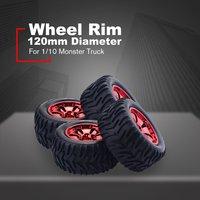 4PCS RC Car Wheel Rim Tire for HPI,HSP Savage,XS,TM Flux,MT,ZDRacing,LRP 1/10 Truggy Monster Truck Rubber Tyre 12mm Hex