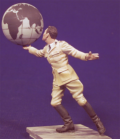 Assembly Unpainted Scale 1/32 54mm Men and the globe standing - 54mm Historical toy Resin Model Miniature Kit