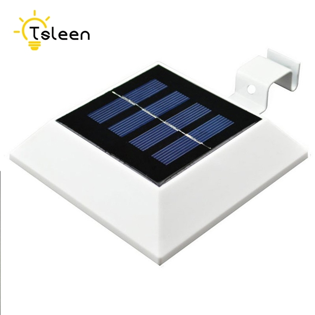 4x Led Solar Light Outdoor Solar Powered 4 LED Lights Waterproof Pathway  Wall Mounted Garden Roof