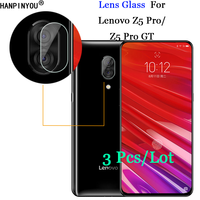 """3 Pcs/Lot For Lenovo Z5 Pro / GT 6.39"""" Ultra Clear Soft Transparent Tempered Glass Back Camera Lens Screen Protector Film"""