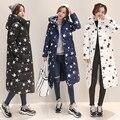 Nova bolsa feminina Coreano algodão casaco longo grandes estaleiros grosso Magro inverno Parka das mulheres Para Baixo acolchoado casaco de estudantes