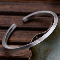 999 Sterling Silver Twisted Cuff Bracelets & Bangles For Men And Women Vintage Punk Rock Style Thai Silver Fine Jewelry
