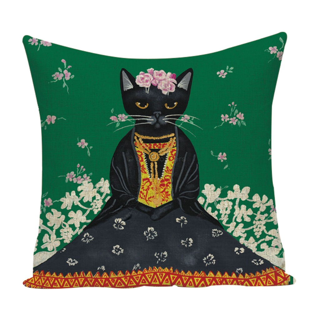 Frida Kahlo Cotton Linen Cushion Cover Self 45X45cm Pillow Cover Home Decor Pillow Cover Sofa Car Set