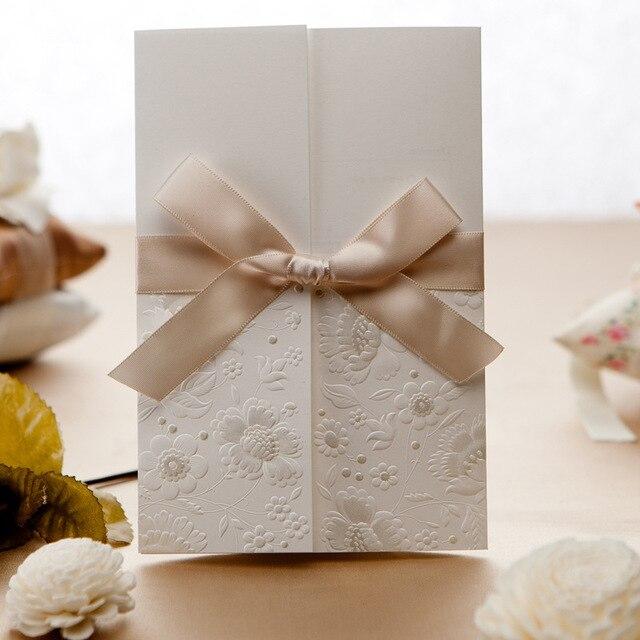 Eleganti Nastri Inviti Di Nozze Fai Da Te Wedding Invita Carta