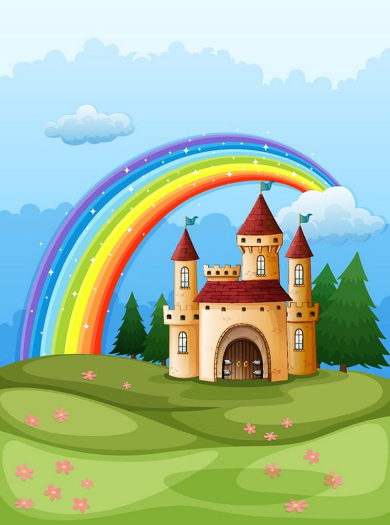 rainbow photography backdrop  Art fabric newborn&pet cartoon photography background D-823 alexander rodchenko photography is an art