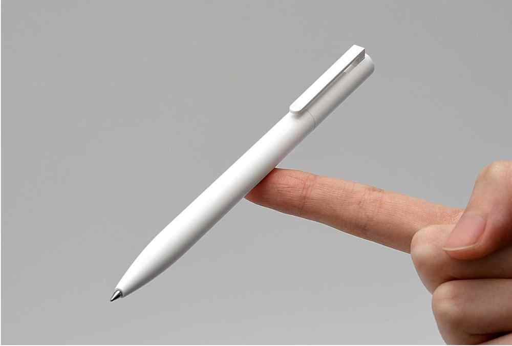 Asli Xiaomi Mi Mijia 1 Pcs Retail Gel Pena Tanpa Cap Black Ink Menulis Pena Halus Swiss Isi Ulang Mikuni Jepang OEM Biru/Hitam