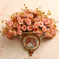 style dining room wall mural vase flower pendant floral Home Furnishing wall decoration wall decoration decoration
