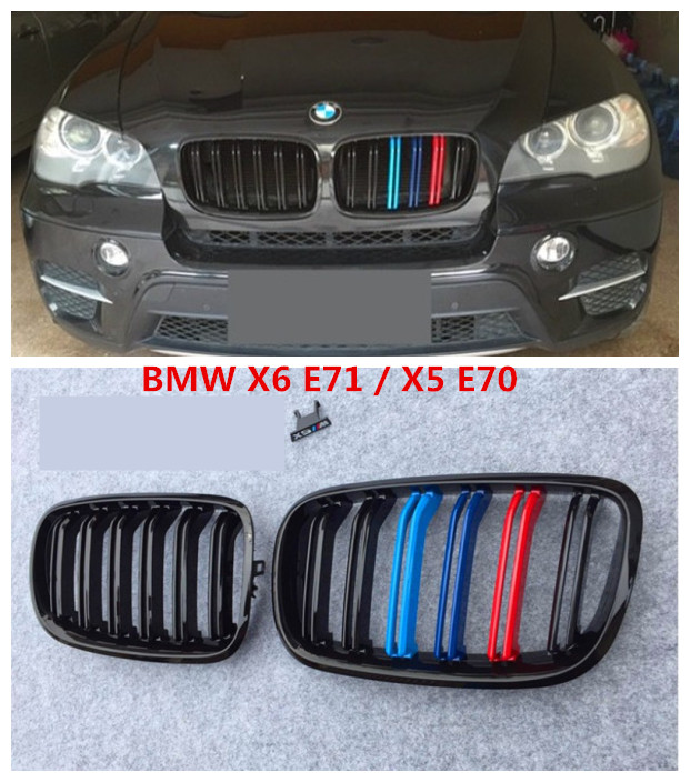 Auto Grille Racing Grills For BMW X6 E71 X5 E70 2008.2009.2010.2011.2012.2013.2014 High Quality Modification Accessories 2007 2013 kidney shape matte black abs plastic e70 e71 original style x5 x6 front racing grill grille for bmw e70 x5 bmw x6