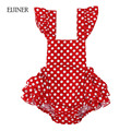 Polka Dot Baby Girl Romper Summer 2017 New Sleeveless Baby Rompers for Girls Cotton Baby Girl Clothes Ruffled Toddlers Jumpsuits