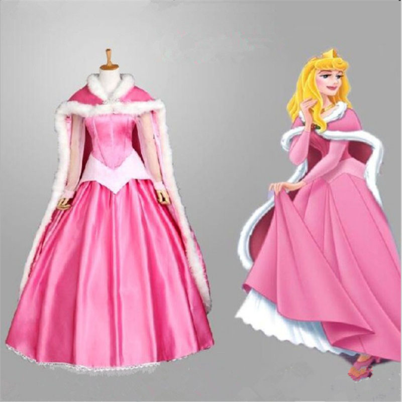 b6a42af15a9f5 Free shipping adult Sleeping Beauty Aurora princess dress performs ...