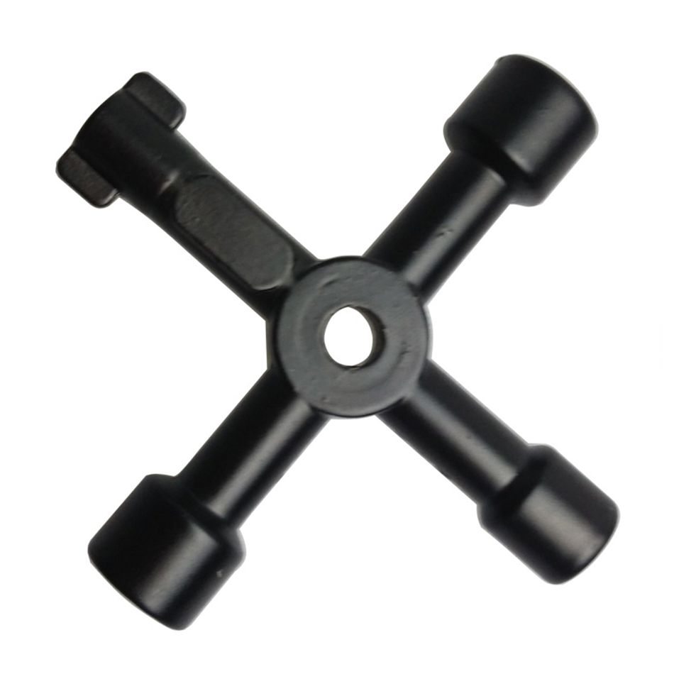 Multifunctional Cross Triangle Key Wrench Water Meter Valve Square Hole Key Electric Cabinet Wrench Key
